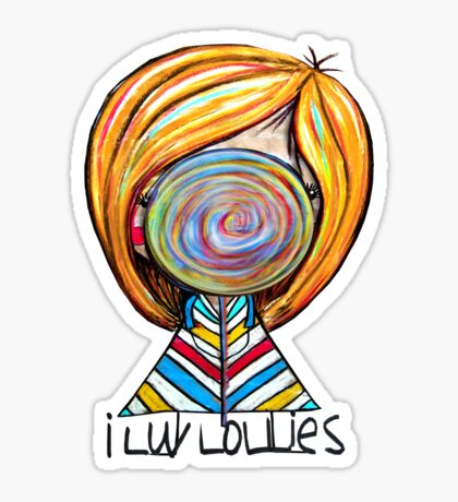 I LUV LOLLIES! Sticker