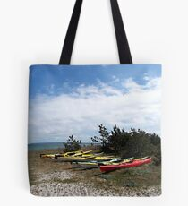 Eight little canoeists Tote Bag