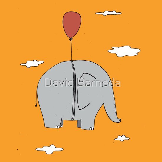 TShirtGifter presents: Elephant with a red balloon