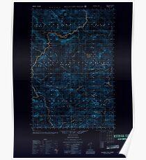 Maine USGS Historical Map Allagash Falls 460077 1956 50000 Inversion Poster