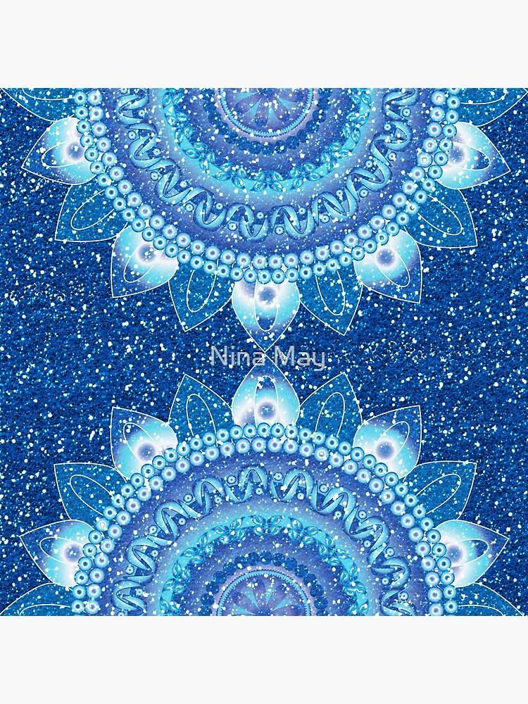 Frozen Glitter Mandalas by ninabmay