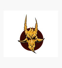 Demon Goat Photographic Print