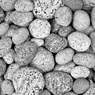 I Love Stones Black and White by Kathilee