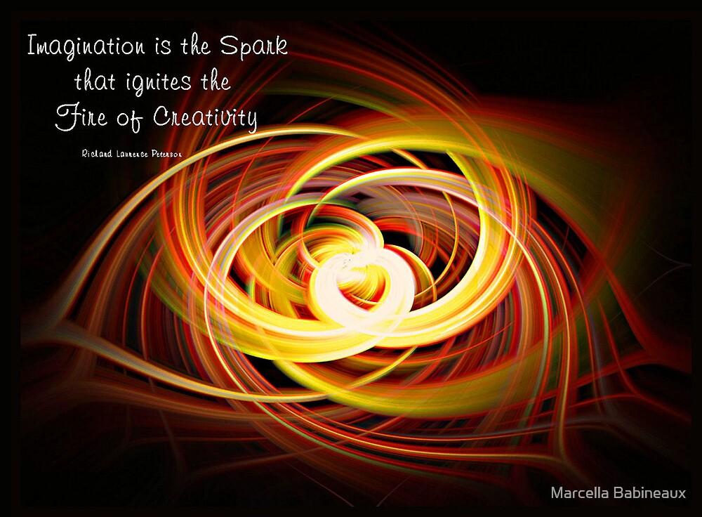 Fire Of Creativity by Marcella Babineaux