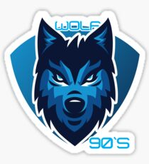 Wolf of the 90 Sticker