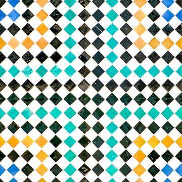 Alhambra tessellation. Squares by puratura