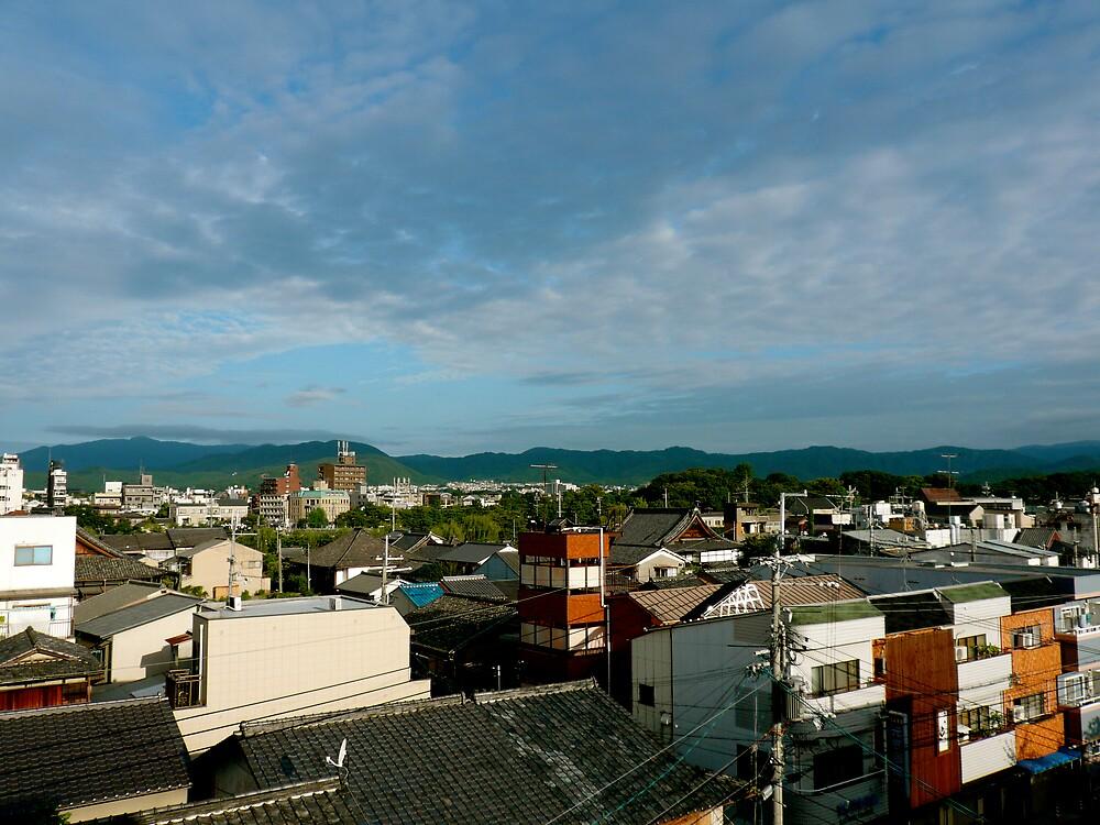 Kyoto Rooftop by geikomaiko