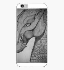 Eragon: Saphira pencil drawing iPhone Case