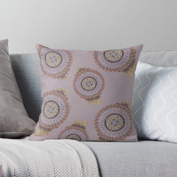 Feeling smooth mandala pattern Throw Pillow
