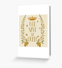 God Save The Queen. Save the Bees Greeting Card