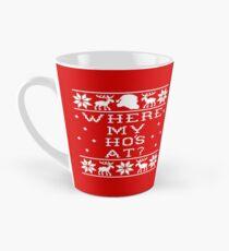 Where My Ho's At? Ugly Christmas Sweater Tall Mug