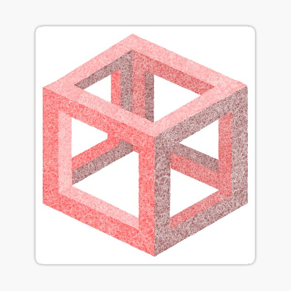 Wriggly Cube in Red Sticker
