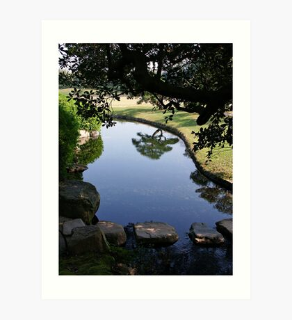 Okayama Korakuen Garden Reflection Art Print