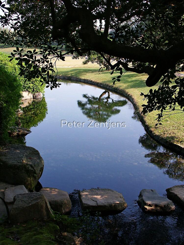 Okayama Korakuen Garden Reflection by Peter Zentjens
