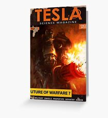 Tesla : Future of Warfare ? Fallout 4 Poster  Greeting Card