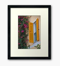 Italy. Cinque Terre. Monterosso. Window. Framed Print