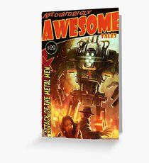 Astoundingly Awesome Tales: Attack of the Metal Men Fallout 4 Poster  Greeting Card