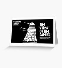 The Curse of the Daleks - theatre programme Greeting Card
