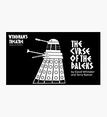 The Curse of the Daleks - theatre programme Photographic Print