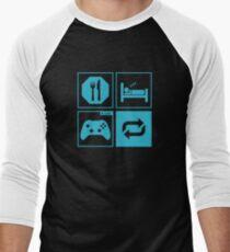 Eat, Sleep, Game, Repeat. Men's Baseball ¾ T-Shirt