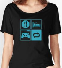 Eat, Sleep, Game, Repeat. Women's Relaxed Fit T-Shirt
