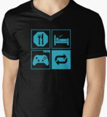 Eat, Sleep, Game, Repeat. Men's V-Neck T-Shirt