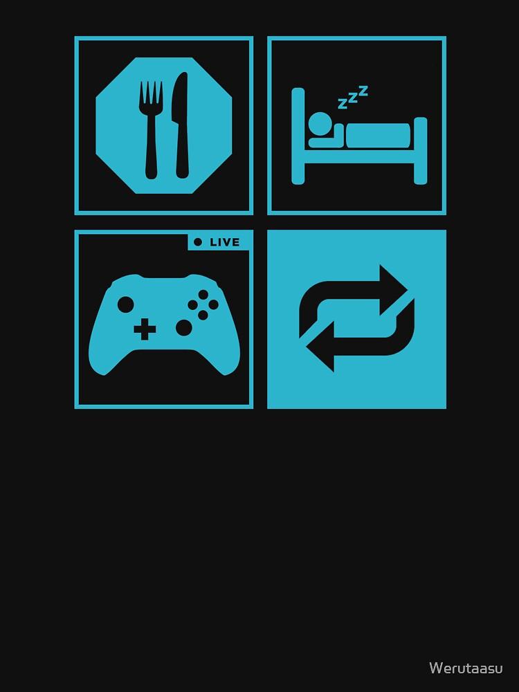 Eat, Sleep, Game, Repeat. | Unisex T-Shirt