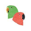 Eclectus Parrots by DANIEL BEVIS