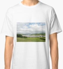 Sunshine and clouds over the tidal zone of the River Conwy Valley Classic T-Shirt
