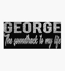 George The Soundtrack To My Life Silver Photographic Print