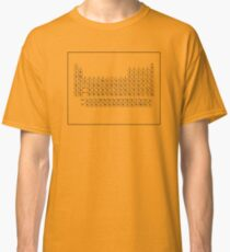 The Original PERIODIC TABLE - Dustin's Shirt in Stranger Things Season 2 Classic T-Shirt