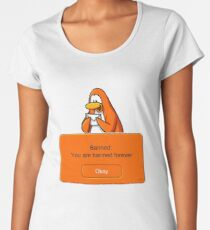 Club Penguin - Banned Women's Premium T-Shirt