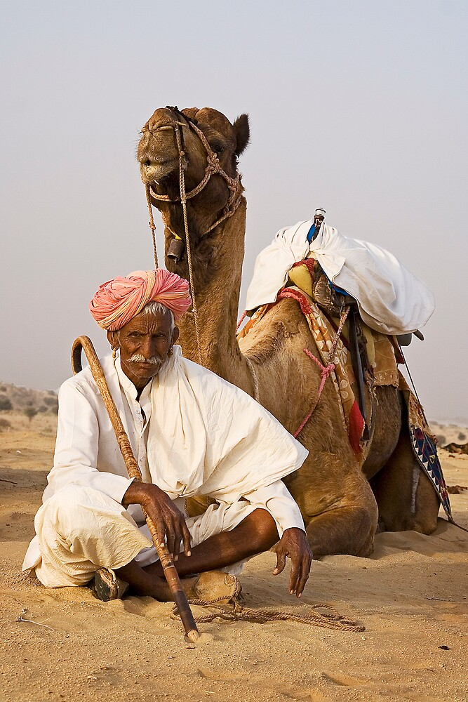 Camel driver - and friend. by DaveBassett