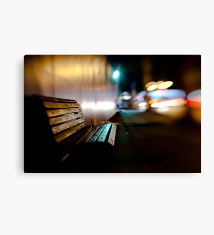 bench@night Canvas Print