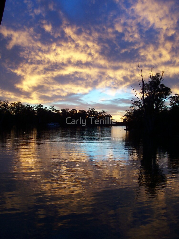 Sunset on The Murray by Carly Tenille