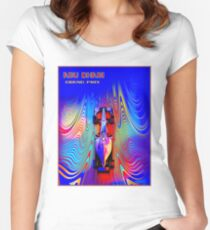 ABU DHABI : Abstract Grand Prix Auto Advertising Print Women's Fitted Scoop T-Shirt