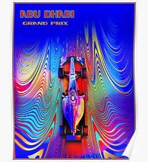 ABU DHABI: Zusammenfassung Grand Prix Autowerbung Print Poster
