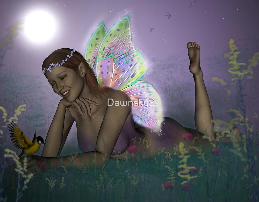 October Lilac Moon Fae by Dawnsky2