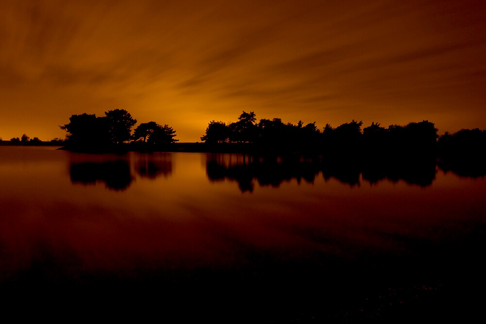 Hatchet Pond @ night by Tristan Drinkwater
