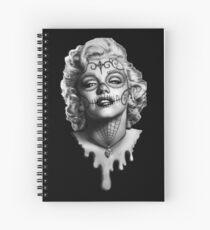 Marilyn Monroe Sugar Skull Spiral Notebook