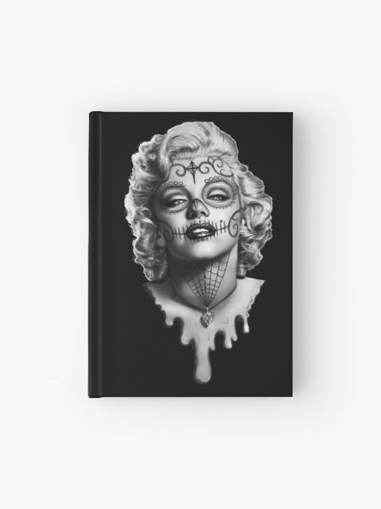 Men/'s Marilyn Monroe Day of Dead Rose Red Raglan Hoodie tattoo dia de Muertos