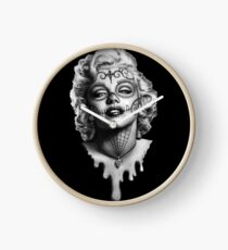 Marilyn Monroe Sugar Skull Clock