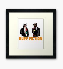 Ruff Fiction Movie Dog Parody Framed Print