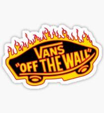 Thrasher Vans Logo Sticker