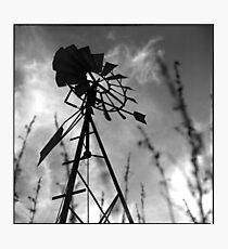 windmill • burgundy • 2007 Photographic Print