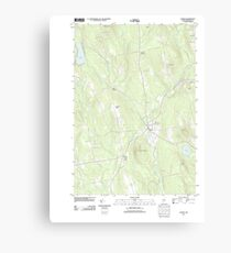 Maine USGS Historical Map Athens 20110906 TM Canvas Print