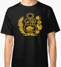 Peru T-Shirt Peruvian Coat of Arms Gold Classic T-Shirt
