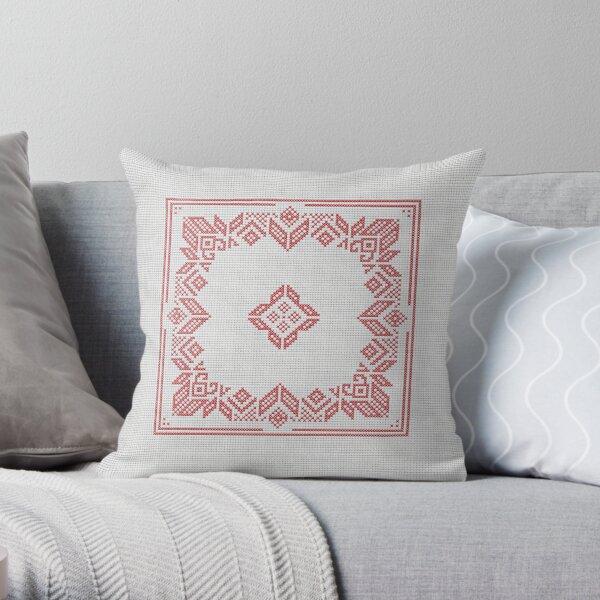 CHRISTMAS STAR cross-stitch pattern 01 Throw Pillow
