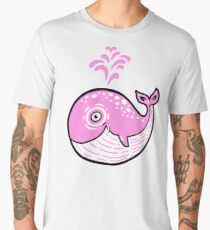 Pink Smile Whale character Men's Premium T-Shirt