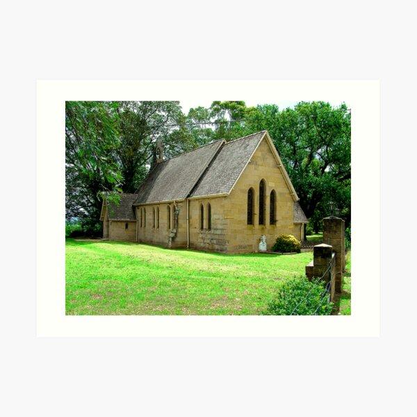 ST JAMES CHURCH OF ENGLAND PITT TOWN NSW Art Print
